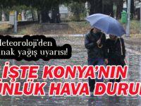 Meteoroloji'den sağanak yağış uyarısı! Konya'nın 5 günlük hava durumu...