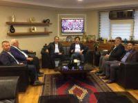 Salih Koca'dan Başkan Özgüven'e ziyaret