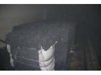 Gaziantep'te iplik fabrikasındaki yangın