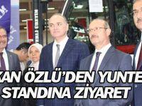 Bakan Özlü'den YUNTES makine standına ziyaret