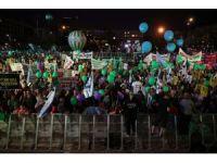 Tel Aviv'de İsrail işgali protesto edildi
