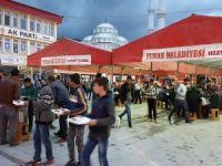 Yunak'ta iftar çadırı ramazan boyunca hizmet verecek