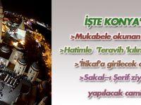 Konya'da hatimle teravih kılınan camiler