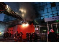Kağıthane'de kargo şirketinin deposunda yangın