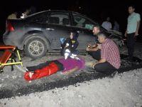 Konya'da otomobil kum yığınına çarptı: 7 yaralı
