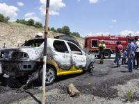 Seydişehir'de otomobil yangını