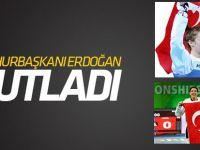 Cumhurbaşkanı Erdoğan'dan, dünya şampiyonu tekvandoculara kutlama
