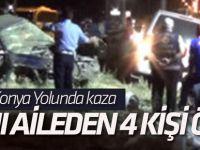 Otomobille Minibüs Çarpıştı: 4 Ölü, 3 Yaralı