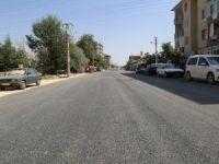 Anafartalar caddesinde asfalt çalışması