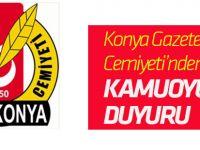 Konya Gazeteciler Cemiyeti'nden kamuoyuna duyuru