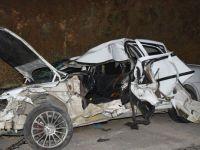 Konya'da kazada ölen doktor ve babası toprağa verildi