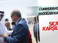 Cumhurbaşkanı Erdoğan'a, Katar'da sıcak karşılama