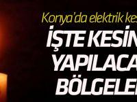 Konya'da elektrik kesintisi...