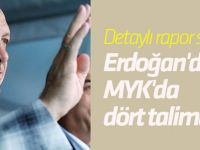 Cumhurbaşkanı Erdoğan'dan MYK'da dört talimat