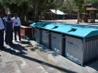 Çumra'ya asansörlü çöp konteynerleri yerleştiriliyor