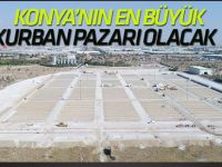 Konya'nın en büyük  kurban pazarı Selçuklu'da yapılıyor