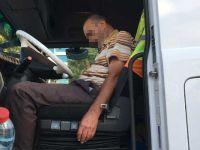 Konya'da TIR sürücüsü direksiyon başında uyuya kaldı