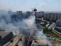 Sefaköy'de kağıt fabrikasında yangın!