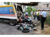 Çöp kamyonunda patlama: 2 işçi yaralı