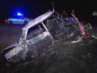 Konya'da Yoldan Çıkan Otomobil Yandı: 1 Ölü, 5 Yaralı