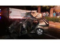 GÜNCELLEME - Aydın'da otomobil tıra çarptı: 4 ölü