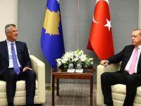 Cumhurbaşkanı Erdoğan Kosova Cumhurbaşkanı Taçi ile görüştü