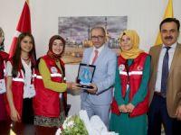 """""""Damla Projesi"""" gençlerinden büyükşehir'e ziyaret"""