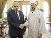 Başbakan yeni Diyanet İşleri Başkanıyla görüştü