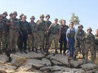 Validen operasyon bölgesindeki Mehmetçik'e moral ziyareti