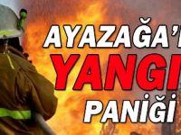 Sarıyer'de yangın! Alevler araçlara sıçradı