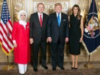 Cumhurbaşkanı Erdoğan ve eşi, Trump çiftinin resepsiyonunda