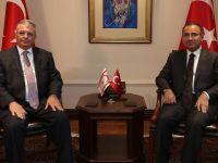 Başbakan Yardımcısı Bozdağ KKTC İçişleri Bakanı Evren'i kabul etti
