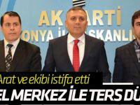 AK Parti Konya İl Başkanı ve Yönetim Kurulu Genel Merkez Talimatıyla İstifa Etti