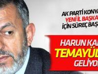 Harun Karaca temayül için Konya'ya geliyor