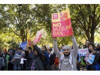 "Beyaz Saray önünde ""seyahat yasağı"" protestosu"