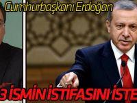 Cumhurbaşkanı Erdoğan Gökçek'in istifasını istedi