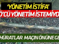 Konyaspor trübünlerindeki protestolar maçın önüne geçti