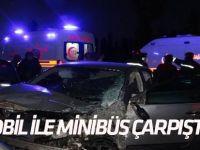 Konya'da otomobil ile minibüs çarpıştı: 3 yaralı