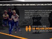 Savaş ve çatışma ortamında en ağır bedeli çocuklar ödüyor