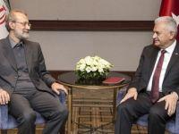 Yıldırım İran Meclis Başkanı ile bir araya geldi