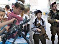 İsrail ana okulu çağındaki çocukları bile savaşa hazırlıyor!
