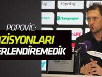 Popovic'ten maç değerlendirmesi
