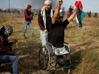İşgalci İsrail engelli Filistinliyi şehit etti...