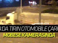 Konya'da Tırın Otomobile Çarpması Mobese Kamerasında