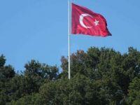 Sosyal medyadan kampanya yapıp köylerine dev Türk bayrağı diktiler