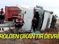 Konya'da Kontrolden Çıkan Tır Devrildi: 1 Ölü
