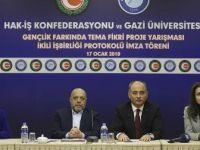 Hak-İş ile Gazi Üniversitesi arasında iş birliği protokolü