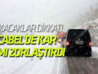 Alacabel'de Kar, Ulaşımı Zorlaştırdı