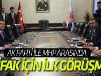 AK Parti ile MHP arasında ittifak için ilk görüşme!