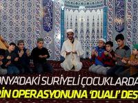 """Suriyeli çocuklardan Afrin için """"zafer"""" duası"""